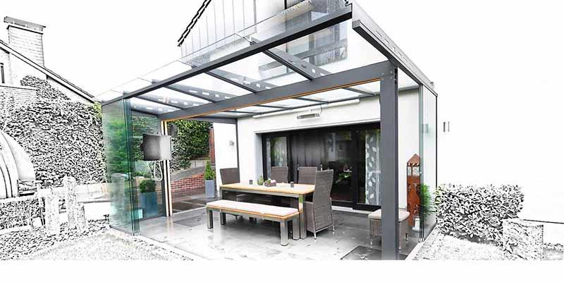 wie ihr glasdach entsteht glasdach und terrassend cher by gladius. Black Bedroom Furniture Sets. Home Design Ideas