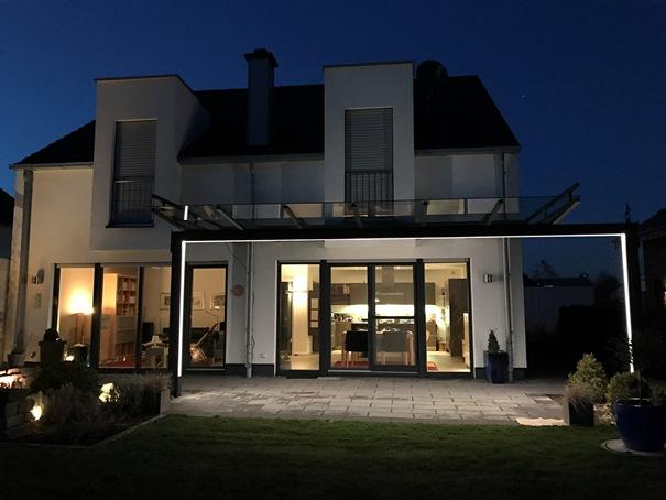 licht glasdach und terrassend cher by gladius. Black Bedroom Furniture Sets. Home Design Ideas